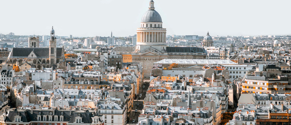 Canva - Aerial cityscape view of Paris (