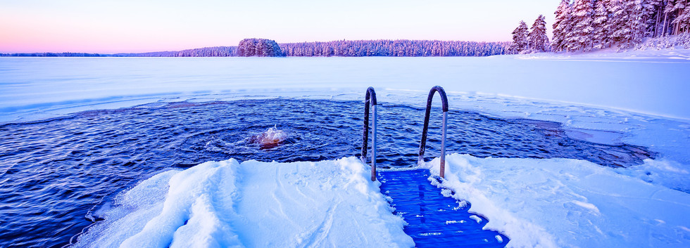 Canva - Ice swimming plac from Kuhmo, Fi