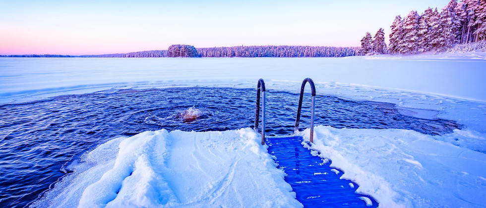 Canva - Ice swimming plac from Kuhmo, Fi