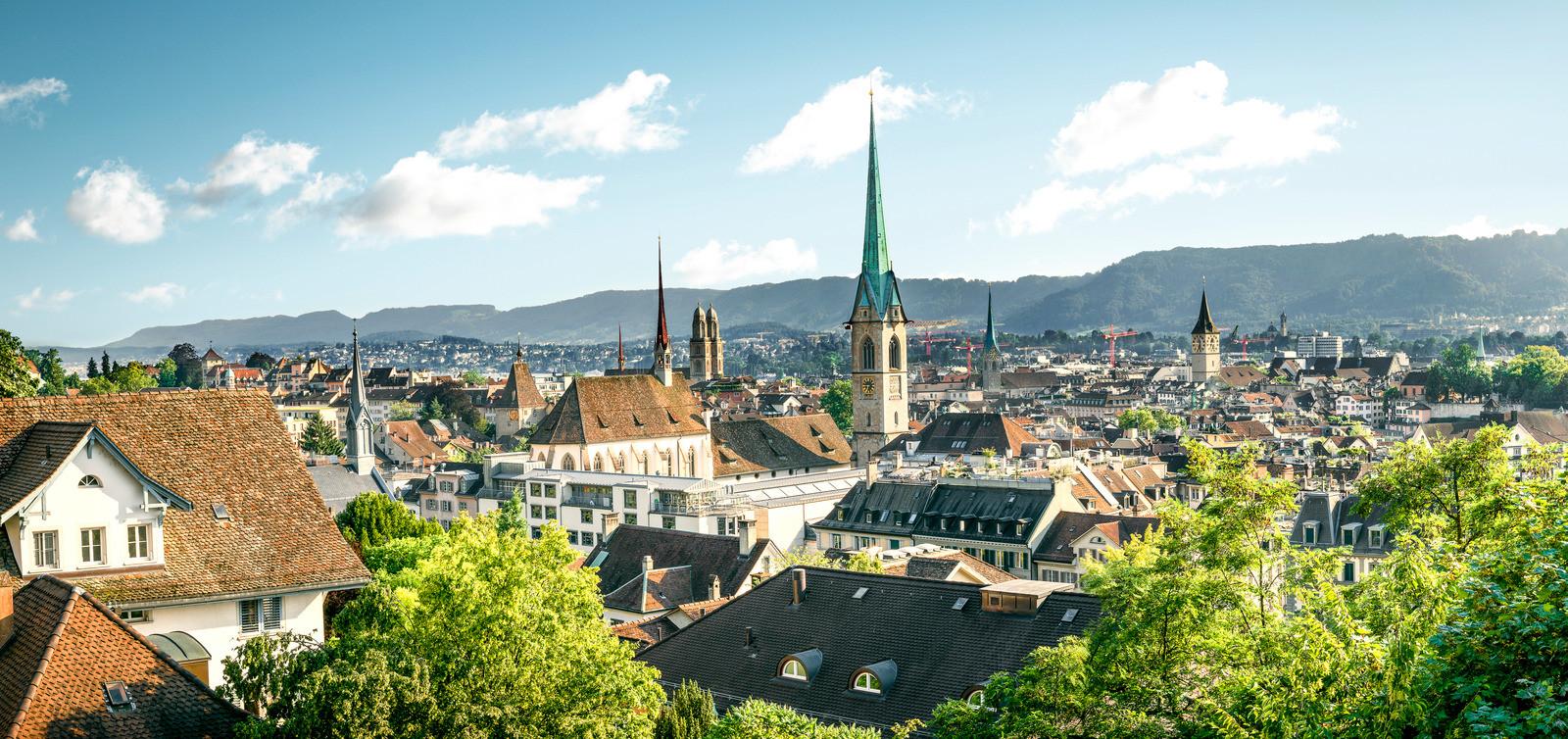 Canva - Panorama of Zurich, Switzerland.