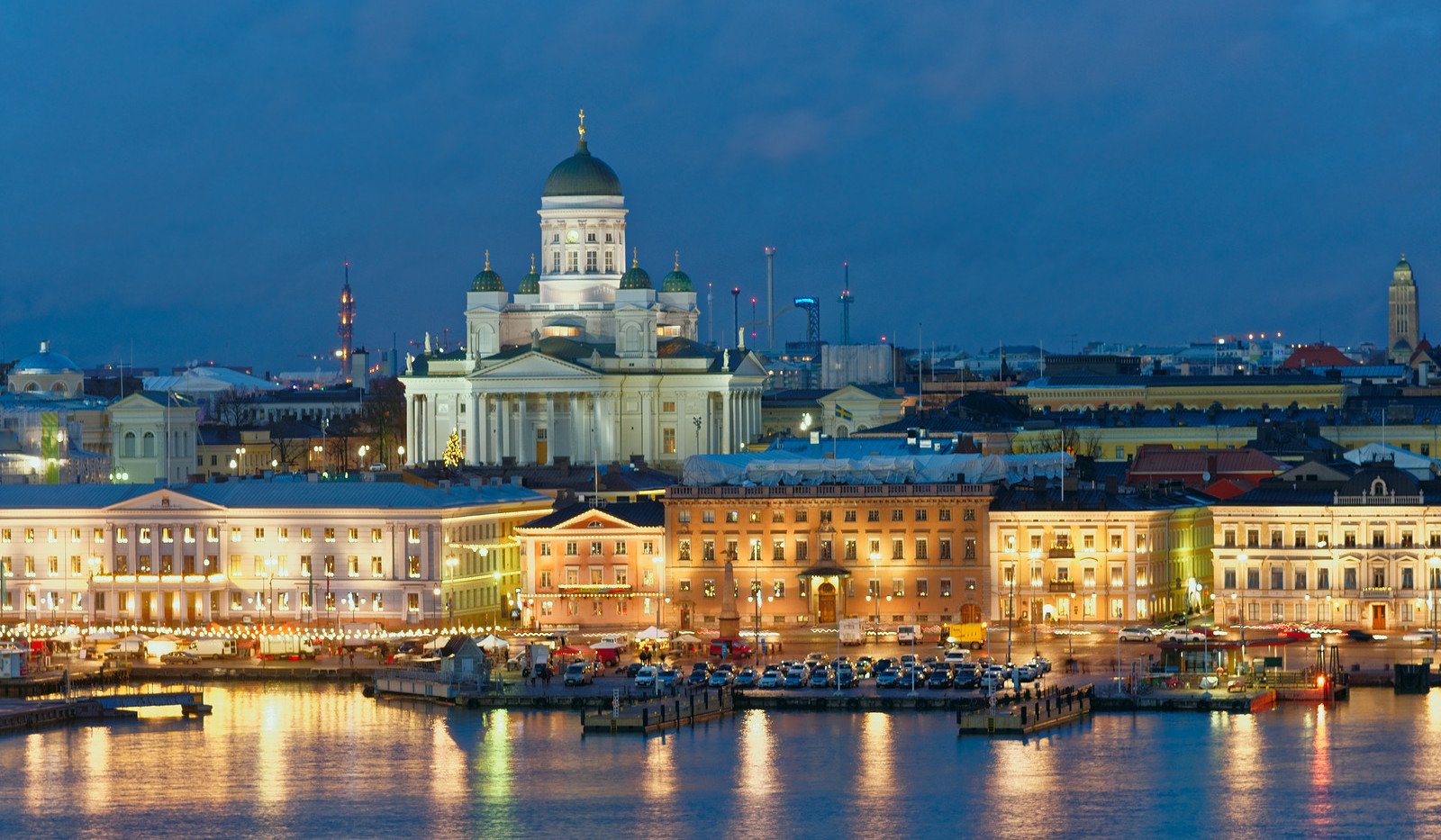 Canva - Night view of Helsinki, Finland.