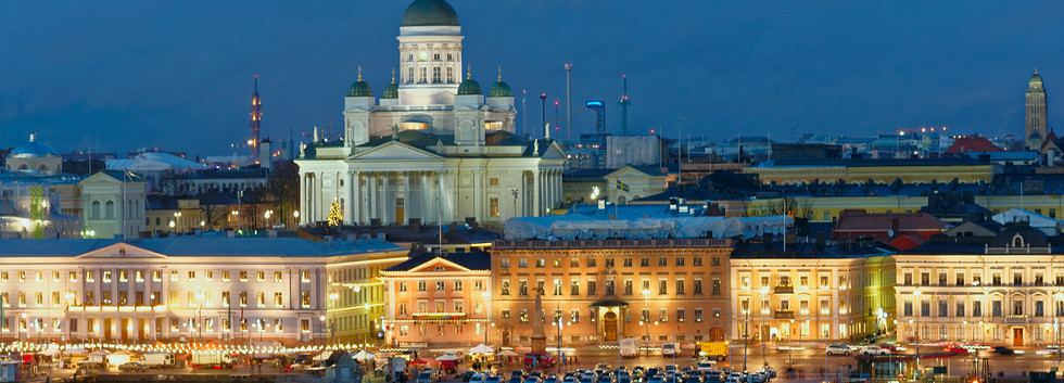 Canva - Night view of Helsinki, Finland.