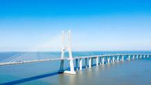 Aerial View of Vasco Da Gama Bridge.