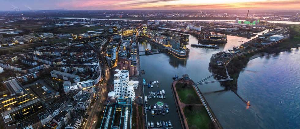 Canva - Skyline of Dusseldorf next to th
