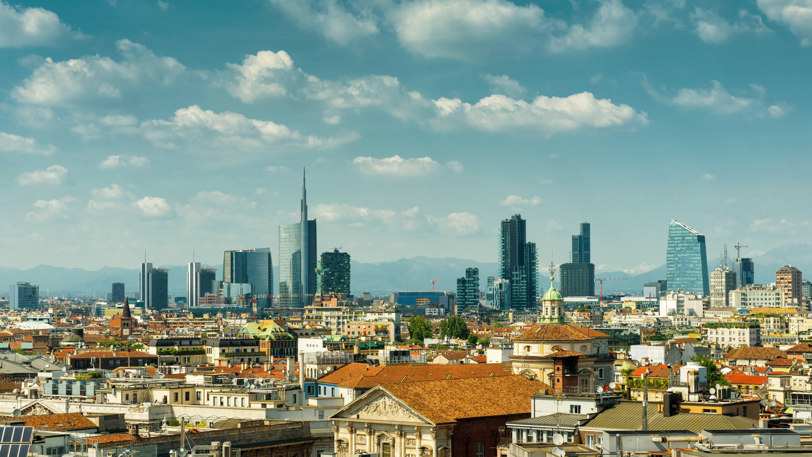 Canva - Milan skyline with modern skyscr