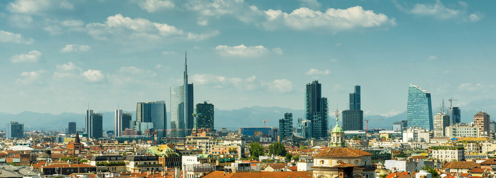 Canva - Milan skyline with modern skyscr