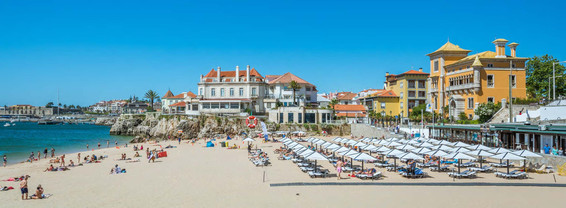 Scenic summer view in Cascais.