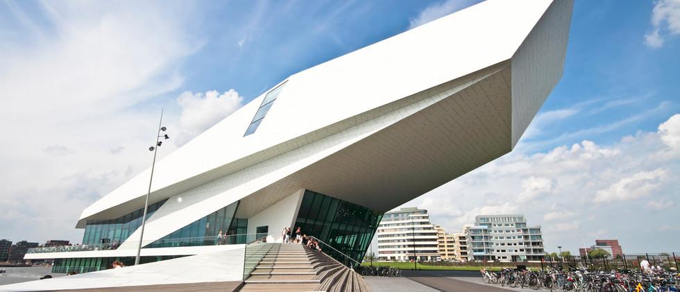 Canva - Futuristic modern building in Am