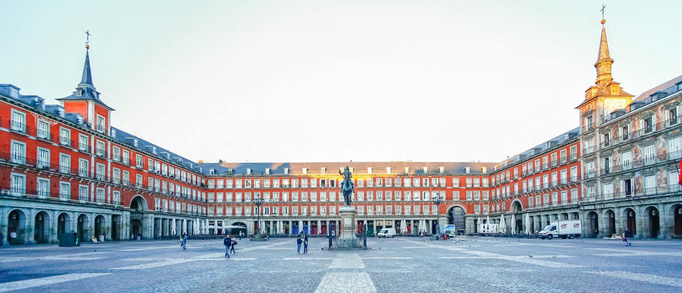 Canva - Morning Light at Plaza Mayor in