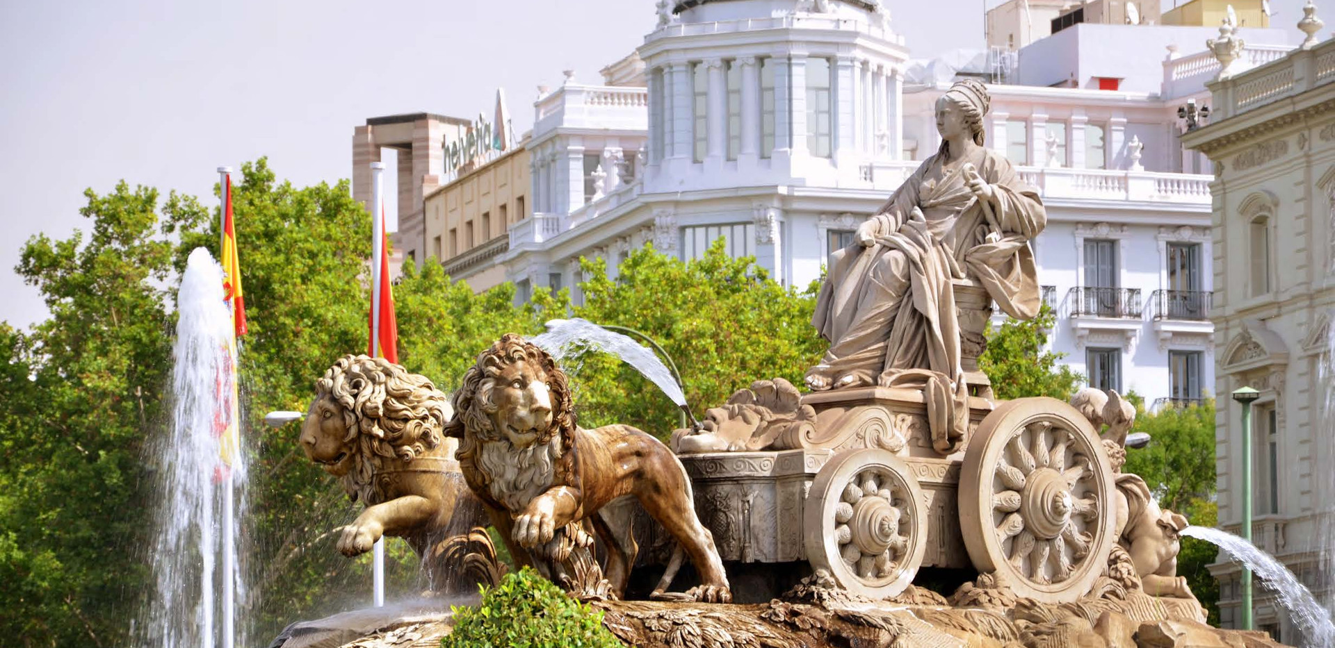 Canva - Majestic Cibeles Fountain on Pla
