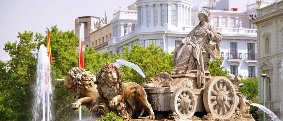 Canva - Majestic Cibeles Fountain on Pla