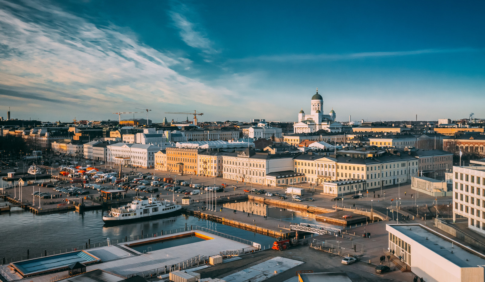 Canva - Helsinki, Finland. Top View Of M