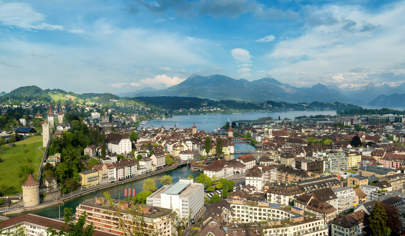 Canva - Lucerne, Switzerland. Aerial vie