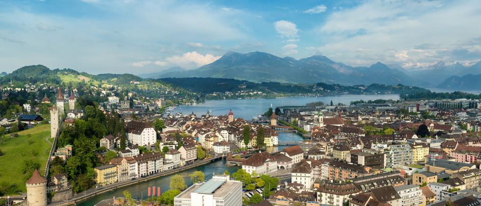 Canva - Lucerne, Switzerland. Aerial vie
