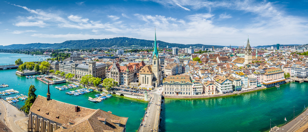 Canva - Zurich skyline panorama with riv