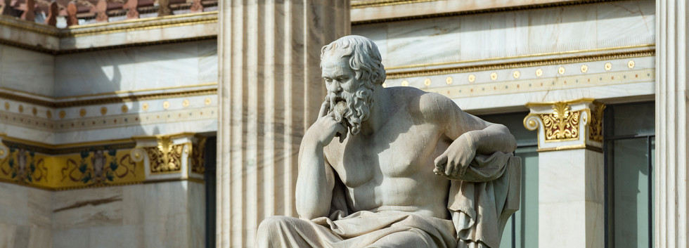 Canva - classical statue of Socrates at