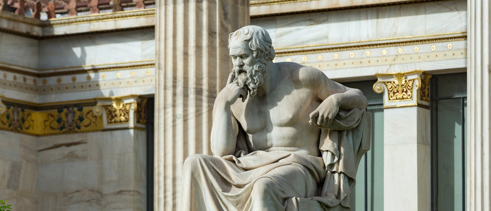 Canva - classical statue of Socrates at