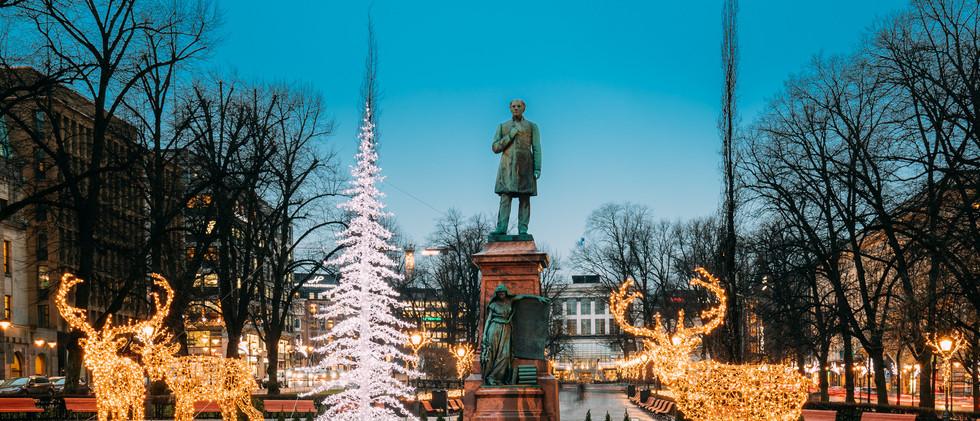 Canva - Helsinki, Finland. Statue Of Joh