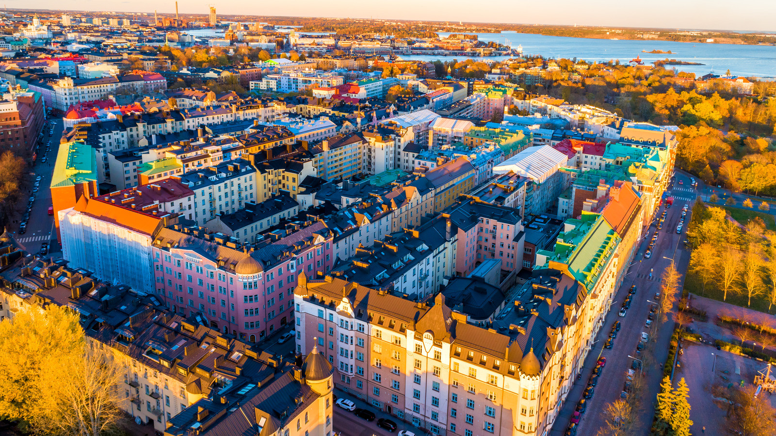 Canva - Aerial view of Colorful Helsinki