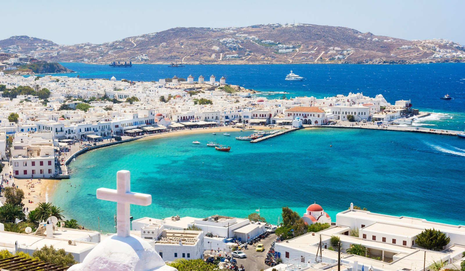 Canva - View on Mykonos island, Cyclades