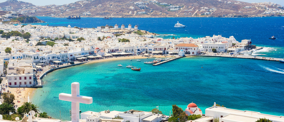 Canva - View on Mykonos island, Cyclades