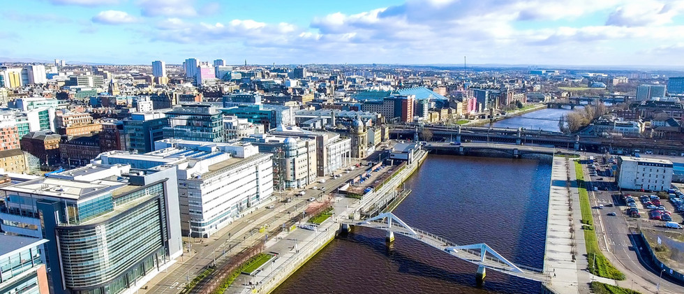 Canva - Aerial image of Glasgow Cityscap