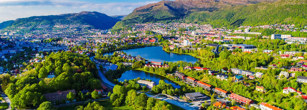 Canva - Aerial photo of Bergen city. Hor