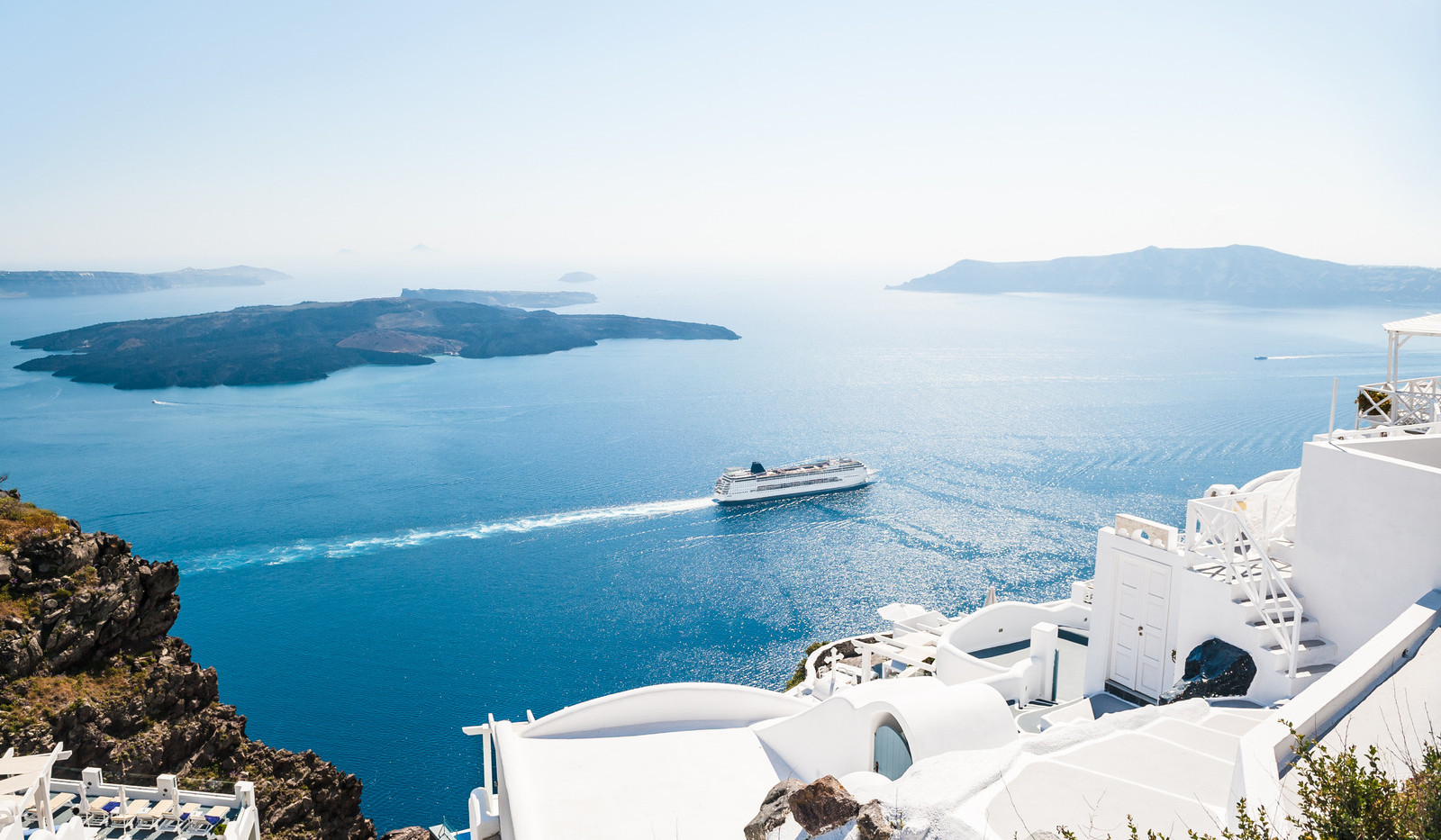 Canva - White buildings on Santorini Isl