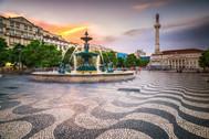 Lisbon, Portugal City Square.