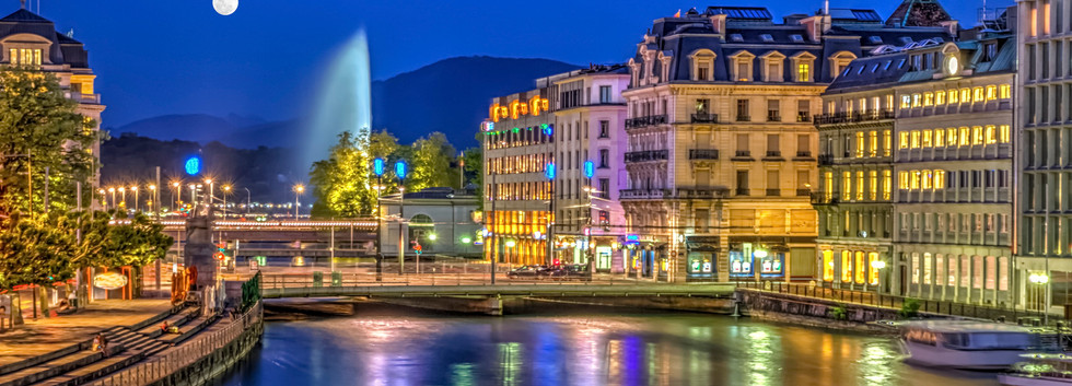 Canva - Urban view with famous fountain,
