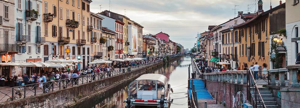 Canva - Naviglio grand canal in Milan, I