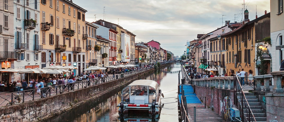 Canva - Naviglio grand canal in Milan, I