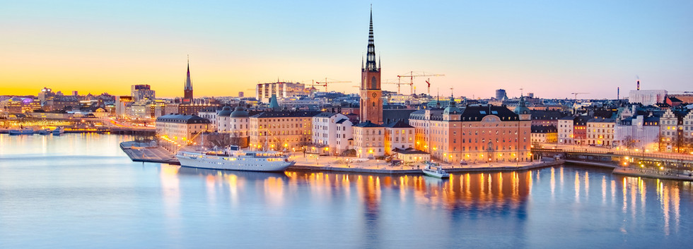 Canva - The Stockholm old town at night