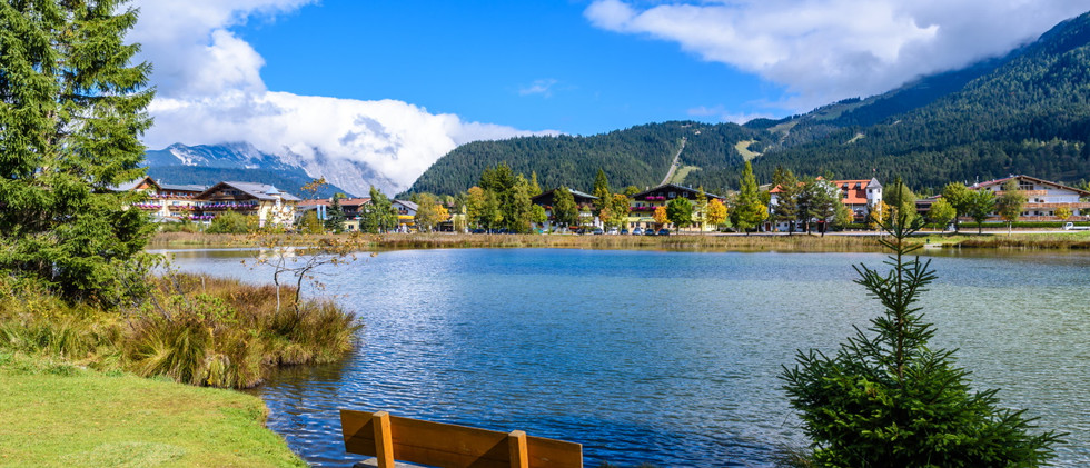 Lake Wildsee at Seefeld in Tirol, Austri