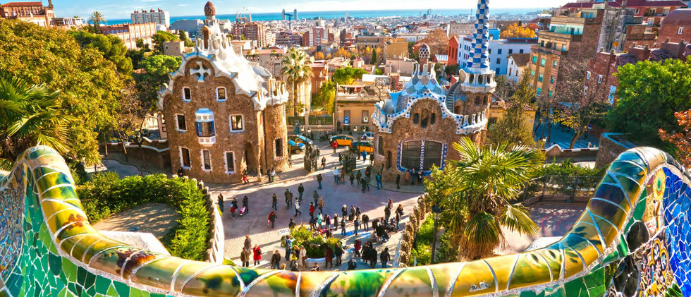 Canva - Park Guell in Barcelona, Spain..