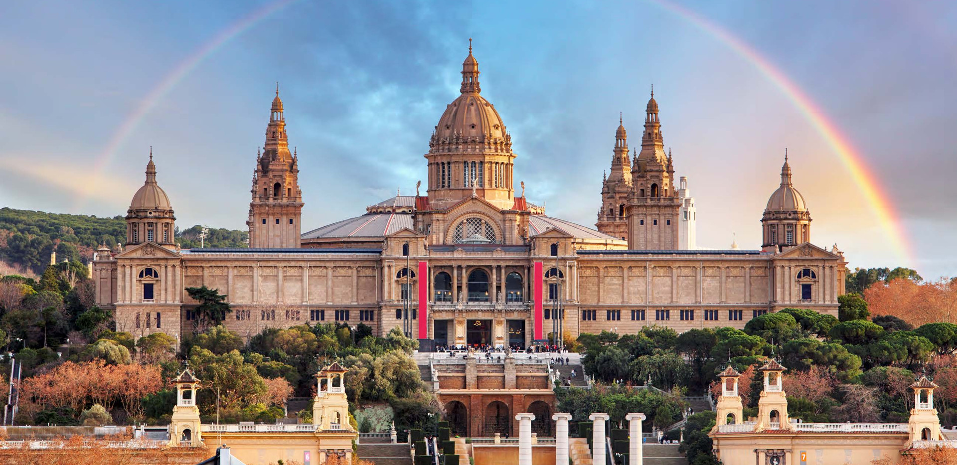 Canva - MNAC in Barcelona with rainbow.j