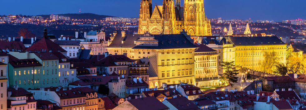 Canva - Prague Castle complex with gothi