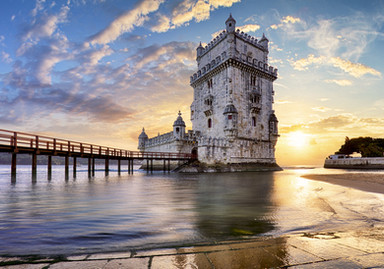 Lisbon,  Belem Tower - Tagus River.