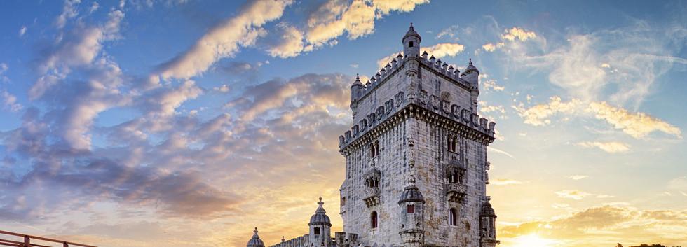 Canva - Lisbon,  Belem Tower - Tagus Riv