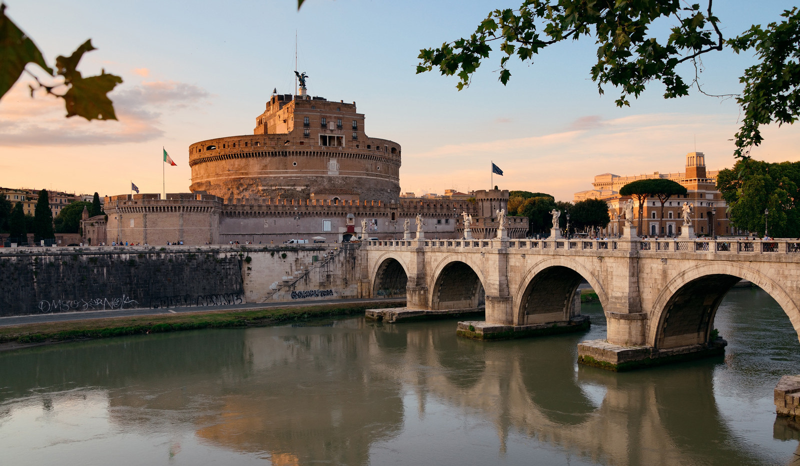 Canva - Castel Sant Angelo and River Tib