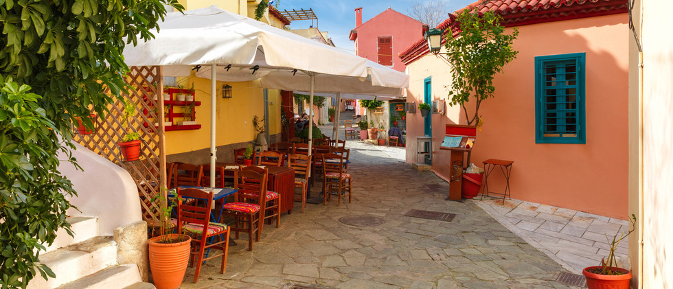 Canva - Famous Placa district in Athens,