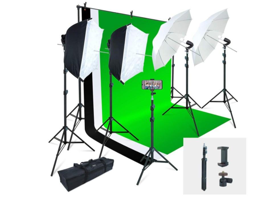 Green Screen & Light Kit