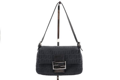 Fendi Zucca Monogram Mini Baguette Shoulder Bag