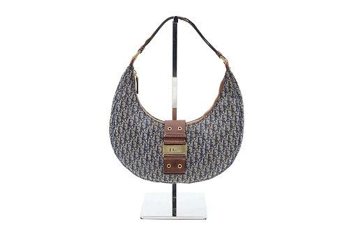 Christian Dior Blue/Brown Diorissimo Canvas Street Chic Hobo Bag
