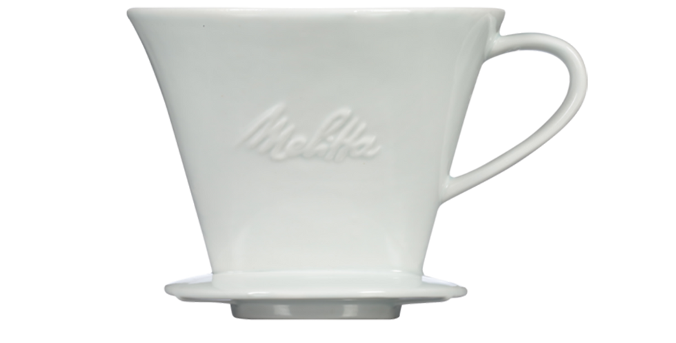 Melitta White 1-Cup Porcelain Pour-Over