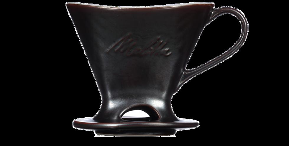 Melitta Signature Gunmetal 1-Cup Porcelain Pour-Over