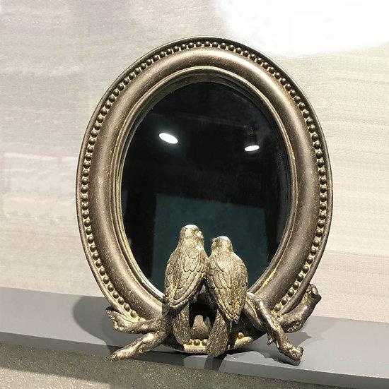 復古情人鳥梳妝鏡