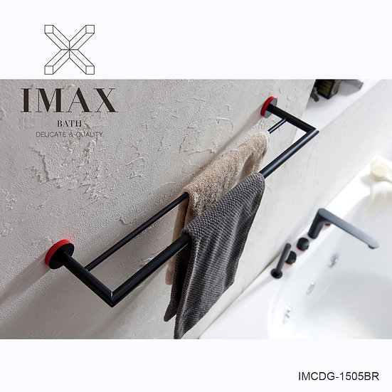 IMAXBATH 銅雙杆毛巾架