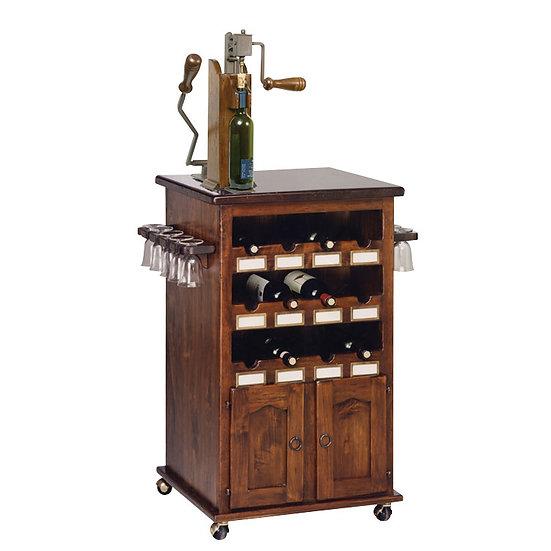 復古可移動式紅酒櫃 Art.345