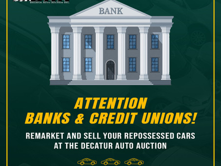 Banks & Credit Unions Looking to Remarket and Sell Repossessed Cars 🏦